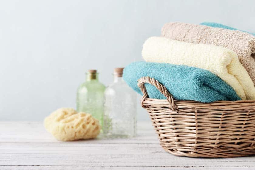 Handtücher im Wäschekorb
